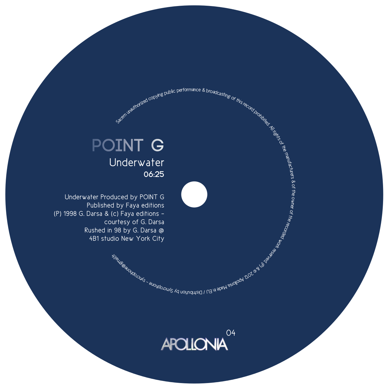 Point G - Underwater Repress EP